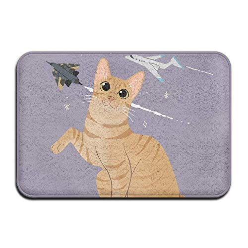 Vidmkeo Cartoon Cat Airplane Funny Outdoor Mats Doormat Indoor Washable Doormats Outdoor Humorous...
