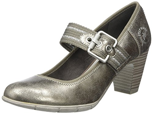 s.Oliver Damen 24404 Pumps, Silber (Pewter Metal.), 36 EU