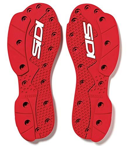 SIDI SRS Supermoto Sohle rot - Standard Paar SRS Ersatz Sohle Größe 40-42
