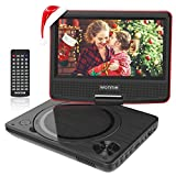 WONNIE 9.5' Lecteur DVD Portable avec écran Rotatif de 7,5' à 270°,...