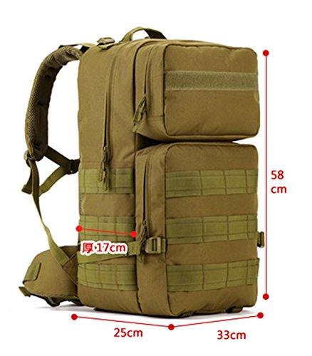 Protector Plus Borsa a tracolla tattica, zaino da trekking per backpacking ultraleggero per il campeggio, la caccia e gli sport all'aperto , D D