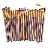 Hosaire 20 Pcs/set Makeup Brush Profi Beauty Make Up Gesicht Eyes Pinsel Foundation Berufsverfassungs Kosmetische Make-up Augen Bürste Set Augenpinsel (Gold+Braun)