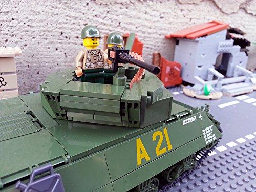 Modbrix 2475 – ★ US ARMY Jagdpanzer M-10 Wolverine Panzer inkl. custom US Army Soldaten aus original Lego© Teilen ★ - 5
