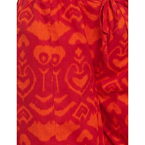 Baumwolle bedruckt Palazzo-Hose für Frauen Indian tomatenrot
