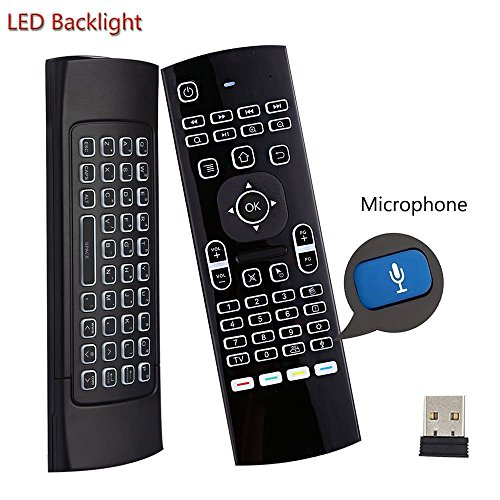 Teclado retroiluminado ratón aire Kodi Remote MX3
