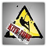 Kite Zone Grunge Label Auto-Dekor-Vinylaufkleber 12 X 12 cm