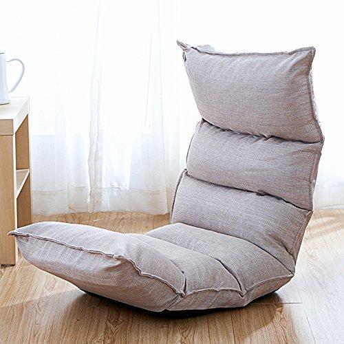 Tumbonas MAZHONG Lazy Sofá Plegable Suelo Pequeño Sofá Espalda Gran Área Cómoda y Portátil (Color : C)