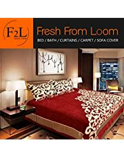 Fresh From Loom 500 TC Chenille Double Bedsheet with 2 Pill