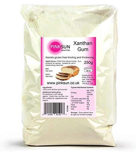 PINK SUN Xanthan Gum Gomme de Xanthane 250g Gluten Free Sans Gluten Bread Making and Baking