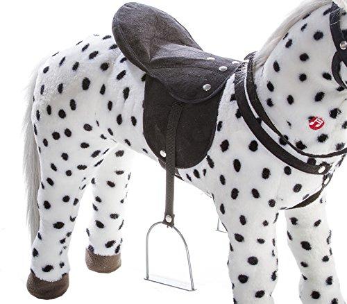 Heunec 723771 – schwarz-weiß gepunktetes Pferd stehend mit Sound 100 KG Tragkraft - 3