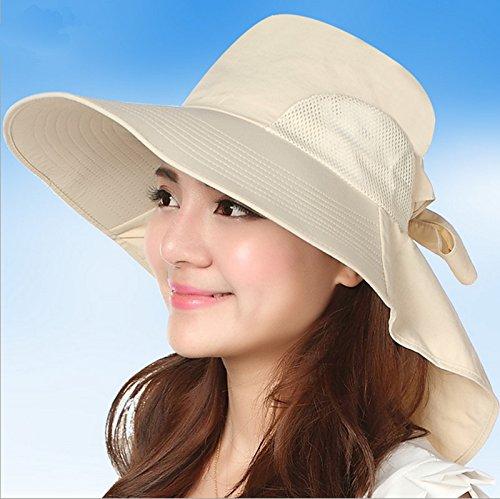 le donne Larga Cappello della Benna di Sole per Pesca Arrampicata, brim cappello con Cavo (Outback Solare Del)