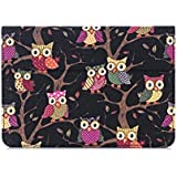 Samsung Galaxy Tab S2 9.7 Case Cover,Thankscase Lightweight Smart Owls Canvas Case Cover with Smart Cover Feature Built-in Elastic Hand Strap and Wallet and Stand for Tab S2 9.7 (Black Owls)