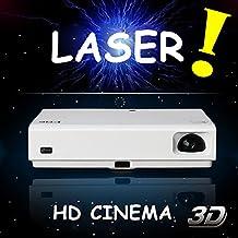 NIERBO Proyector de la lámpara del laser del laser 1080P Proyector lleno HD WIFI 4500 lúmenes video Proyector de HDMI Androide 4.4 WIFI Bluetooth Teatro casero