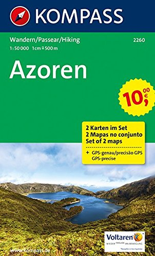 Preisvergleich Produktbild Azoren: Wanderkarten-Set. GPS-genau. 1:50000 (KOMPASS-Wanderkarten, Band 2260)