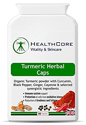 Turmeric Curcumin 200mg Herbal 90 Capsules from Healthcoreonline