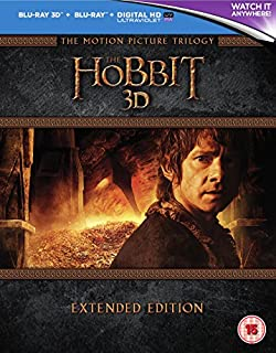 The Hobbit Trilogy - Extended Edition [Blu-ray 3D] [2015] [Region Free] (B00ZX1Y7O6) | Amazon price tracker / tracking, Amazon price history charts, Amazon price watches, Amazon price drop alerts