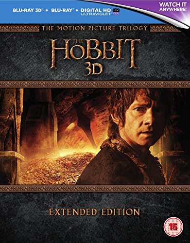 The Hobbit Trilogy - Extended Edition [Blu-ray 3D] [2015] [Region Free]