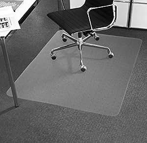 Tapis prot ge sol office marshal antid rapant pour moquettes transparent en vinyle tailles for Moquette anglais