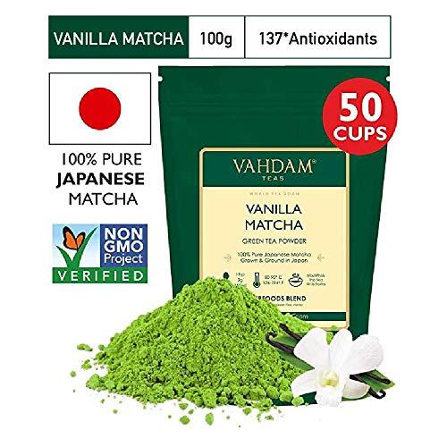 VAHDAM, té verde vainilla matcha | Polvo té Matcha
