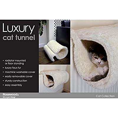 Rosewood Luxury Cat Tunnel (Assorted Colours)