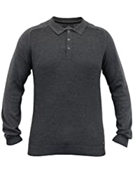 Hommes Pulls Threadbare Pull Tricot Gaufré Polo Pull-over Hiver Décontracté
