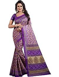 J B Fashion Sarees Women's Multicolor Mysore Bhagalpuri Art Silk Saree