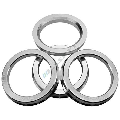 Haskyy 4 Zentrierringe aus Alu // Aluminium in diversen Größen zur Auswahl (73.1-57.1) -