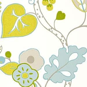 Wild Garden Botanica Papier peint couleur: Aqua