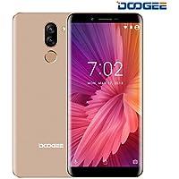 Moviles Libres Baratos, DOOGEE X60L 4G smartphone libres, Android 7.0 Telefonos - 5.5 Pulgadas HD IPS Pantalla - 2GB RAM + 16GB ROM - Cámara de 13.0MP + 8.0 MP - MTK6737V Quad Core - Huella dactilar - Batería de 3300mAh - Dual SIM - (Oro)