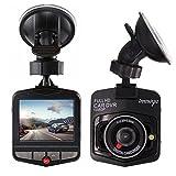 Dash Cam Telecamera per Auto Full HD 1080P , Obiettivo Grandangolare di 170°Visione Notturna, Rilevamento del Movimento Integrato con Sensore G, Monitor di Parcheggio, Registrazione Ciclica (Nero)