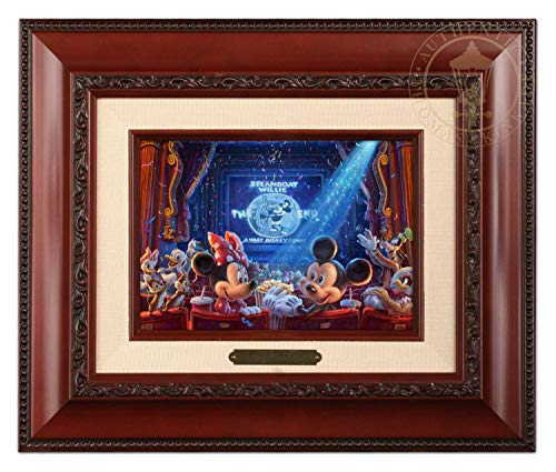 Thomas Kinkade Studios Disney 90 Years of Mickey Brushwork 12.5Lx10.5Hx1.25W Brandy Frame -