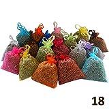 18 sacchettini di organza multicolor, ciascuno riempito con 10 g di pura lavanda (180g)