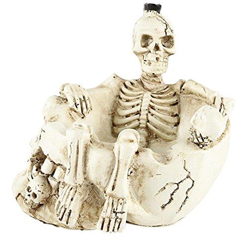 SYU Harz Innen-oder Außenbereich Aschenbecher Persönlichkeit Geschenk (Skelett)