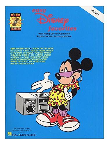 Easy Disney Favorites For Violin. Partitions, CD pour Violon par  Hal Leonard Disney
