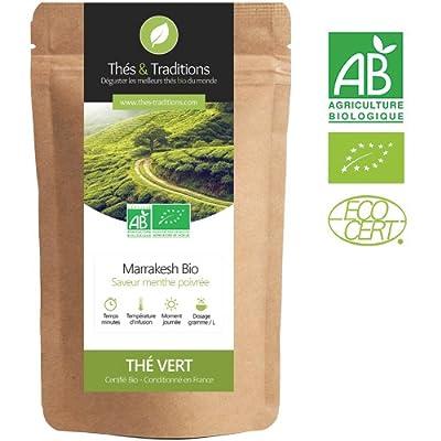 Thé Vert Bio Menthe Poivrée | Sachet 100g vrac | ? Certifié Agriculture biologique ?