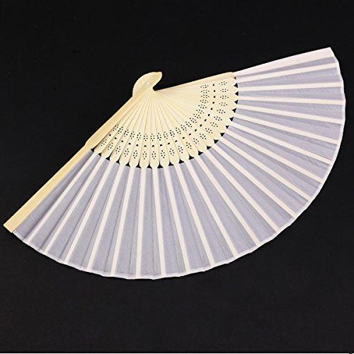 Handfächer im Organzabeutel | weiß, 10 Stück - 4