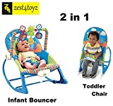 #10: Zest 4 toyz multifunctional vibration baby musical rocking chair bouncer swing rocker electronic baby chair