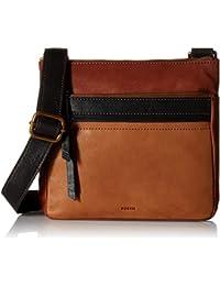 Fossil Women's Medium Corey Leather Crossbody Cross Body Bag - Multi Brown