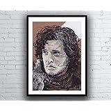 Game of Thrones Jon Snow Portrait Drawing - signed Giclée art print Kunstdruck A4 size artwork