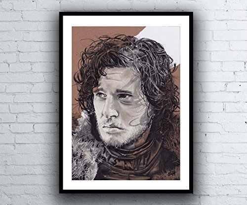 Game-of-Thrones-Jon-Snow-Portrait-Drawing-signed-Gicle-art-print-Kunstdruck-A4-size-artwork