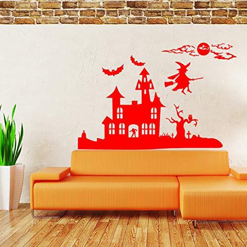 ekoration Hexe und Schloss Art Design Home Decoration Vinyl Wandaufkleber abnehmbare Haus decor58 * 102 cm ()