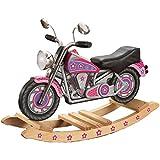 Rocking chair Health UK Silla De La Motocicleta De Los Niños, Caballo Mecedora del Juguete De Madera Sólida para La Guardería/El Jardín/El Sitio del Bebé (Color : Pink)
