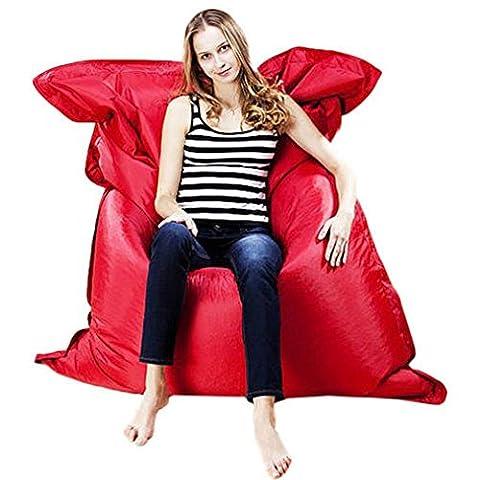 Mode confortable Pouf géant Coussin Taie d'oreiller Intérieur Extérieur Relax Jeu Joueur Bean Bag Tramdy