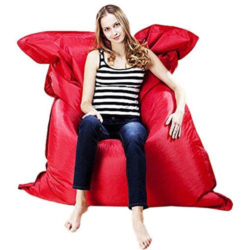 Kingko® Aufblasbare Liege, tragbar Air Betten Schlafen Sofa Couch, für Reisen, Camping, Riesige Sitzsack Kissen Kissen Indoor Outdoor Relax Gaming Gamer Sitzsack (Rot)