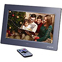 Andoer 10 Inch HD TFT-LCD 1024 x 600 Digital Photo Frame Album Clock MP3 MP4 Movie Player w/ Remote Control