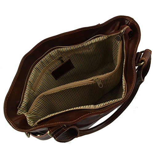 Tuscany Leather Ilenia Borsa a spalla Marrone Testa di Moro