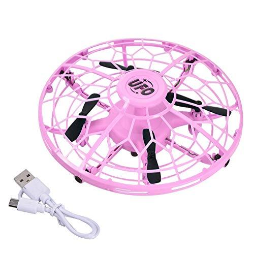 UFO Mini Drohne, fliegendes Spielzeug Drohne für Kinder Flugzeug Spielzeug Fernbedienung Hubschrauber Handgesteuerte Flying Ball für Geschenke für 3-10 Jahre alte Jungen Mädchen mit LED-Leuchten