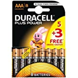Duracell Plus Power AAA Batteries, 8 pack