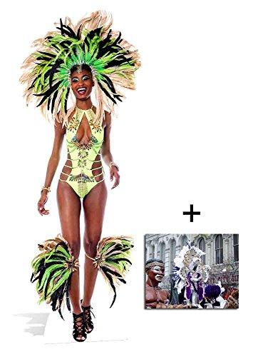 (Brazilian Madi Gras Karneval Babe Lebensgrosse Pappaufsteller - mit 25cm x 20cm foto)
