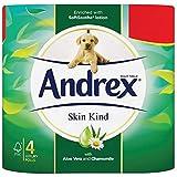 Keraiz® (6* 4roll-24) Andrex Peau Kind Rouleau de papier toilette papier de soie avec aloe vera